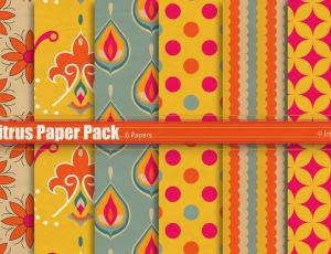 橘红色、橙色背景复古纹理填充PS素材(JPG无缝拼接)