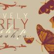 水彩卡通风格的蝴蝶图案PS笔刷